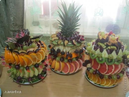 Букет из фруктов своими руками фото