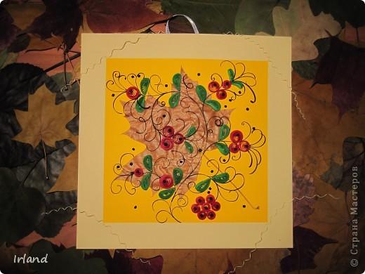Осень, что может быть более осенним чем желтый кленовый лист, и вкусные ягодки =) фото 4