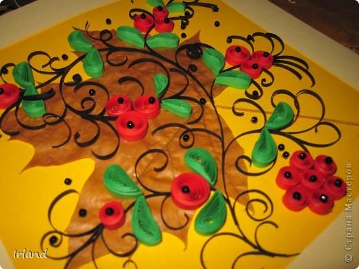 Осень, что может быть более осенним чем желтый кленовый лист, и вкусные ягодки =) фото 1