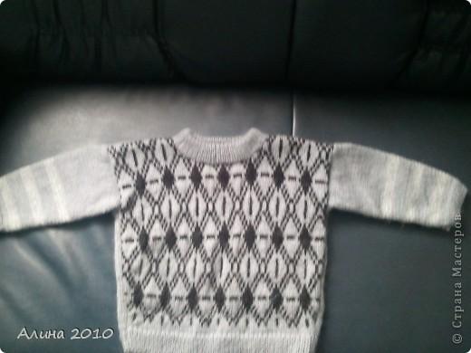 готовимся к зиме. пуловер для сына.