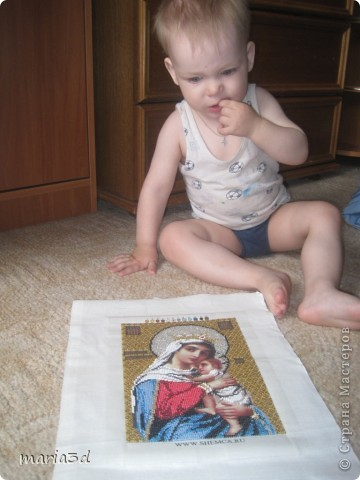 Картина панно рисунок Рождество Бисероплетение Вышивка Вишивание иконы бисером Бисер фото 2.