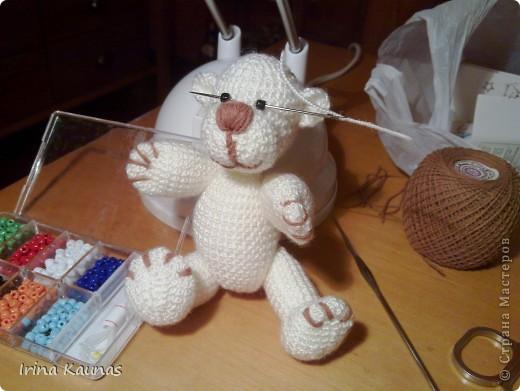 Вот такой белый мишка у меня получился. фото 3