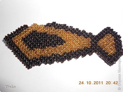 Бисерные украшения в форме галстука. фото 7