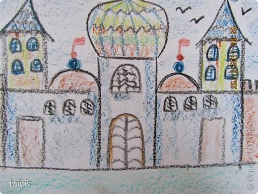 Рисование восковыми мелками. фото 9