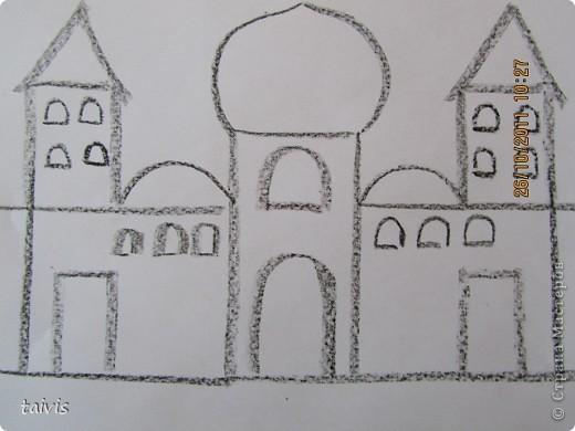 Рисование восковыми мелками. фото 7