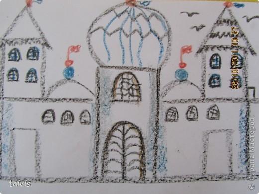 Рисование восковыми мелками. фото 8