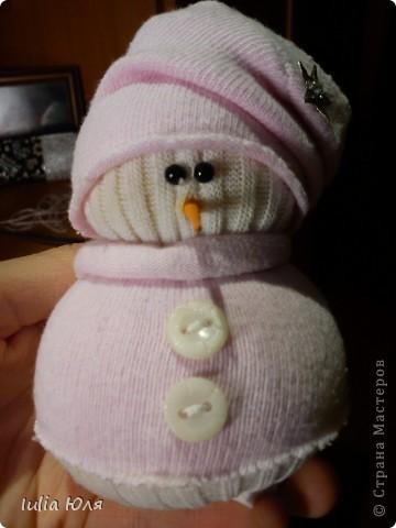 Мастер-класс Новый год Рождество Шитьё Снеговики из носков Бусинки Карандаш Нитки Носки фото 19