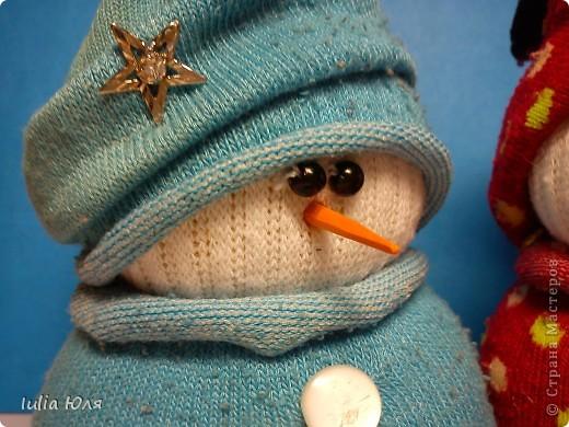 Мастер-класс Новый год Рождество Шитьё Снеговики из носков Бусинки Карандаш Нитки Носки фото 20