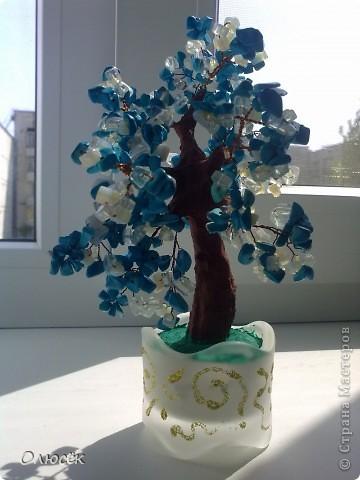 Вот такие деревья когда-то я пробовала делать... Все раздарила родным :) Это для бабули. фото 3