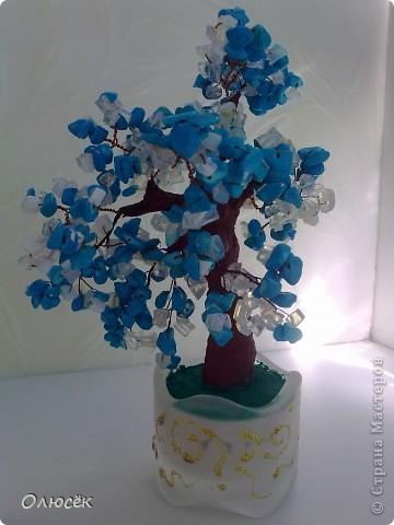 Вот такие деревья когда-то я пробовала делать... Все раздарила родным :) Это для бабули. фото 2