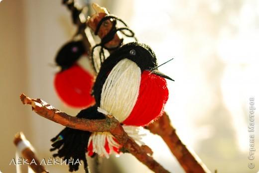 Птички прилетели...Итак нужны нитки и 5 минут свободного времени. фото 2
