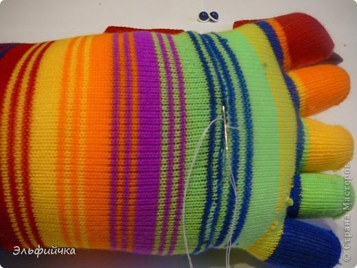 МК крабик из носков фото 8