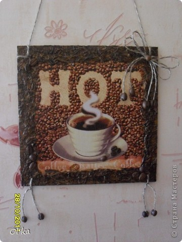 "Панно ""Чашка кофе"".    фото 2"