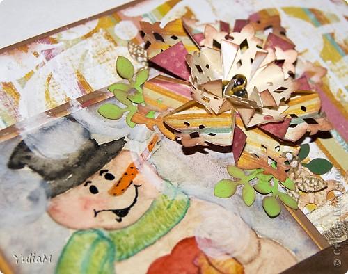 """Доброй ночи! Правда большинство из вас прочитает-просмотрит этот пост утром, поэтому - доброго утра всем-всем! Сегодня я к вам с открыточками и блокнотиком, которых у меня скопилось в последнее время, и хотя среди открыточек есть и новогодние, все объединила одним названием - """"Цвета золотой осени"""". Смотрите, и увидите почему...  фото 14"""