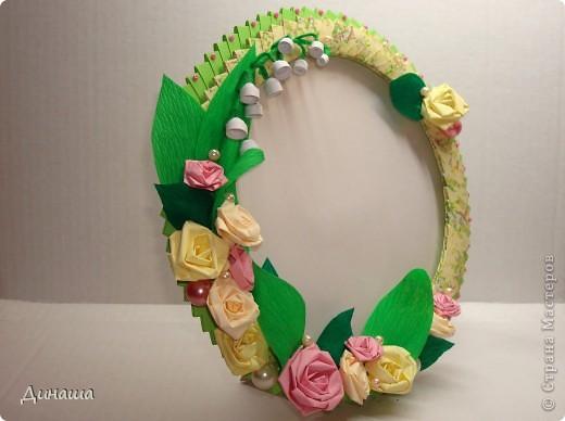 "Рамочка ""Ландыши и розы"" фото 7"