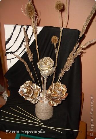 Розы из листьев клёна. Самый доступный материал для творчества.  фото 4