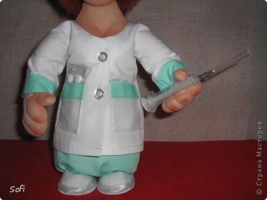 Куклы Мастер-класс Шитьё МК Медсестра Проволочно-картонный каркас как делаю это я Капрон фото 42