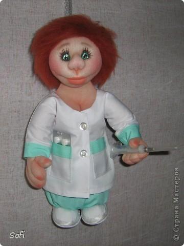 Куклы Мастер-класс Шитьё МК Медсестра Проволочно-картонный каркас как делаю это я Капрон фото 45
