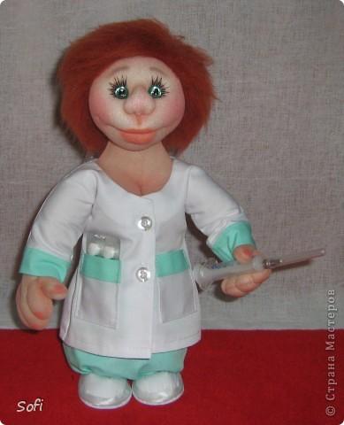 Куклы Мастер-класс Шитьё МК Медсестра Проволочно-картонный каркас как делаю это я Капрон фото 46