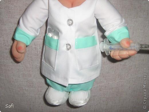Куклы Мастер-класс Шитьё МК Медсестра Проволочно-картонный каркас как делаю это я Капрон фото 39