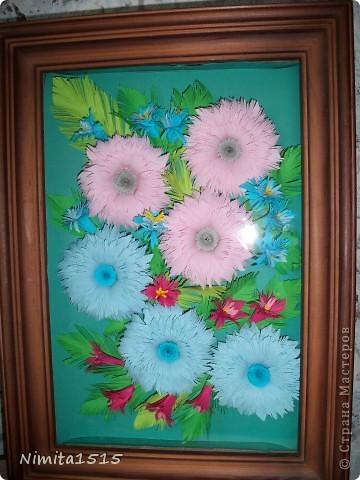 Мои первые цветочки. Огромное спасибо Ольге Ольшак http://stranamasterov.ru/user/12816, благодаря вашим работам, я решила попробовать себя в квиллинге. Цветочки я делала по мк http://www.liveinternet.ru/users/3909543/post185652810/   фото 1