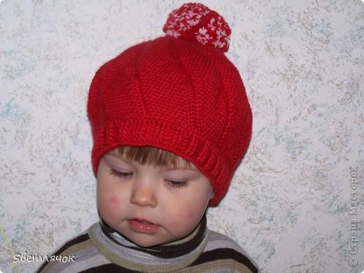 еще одна шапочка для дочурки фото 1