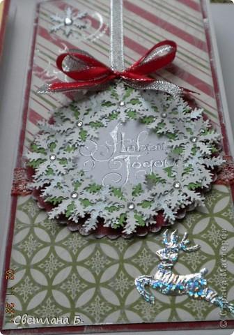 Добрый день. Сегодня я хочу показать вам первую партию Новогодних открыточек. Идею для них нашла у замечательной девушки Светланы Салтыковой http://stranamasterov.ru/node/258388?c=favusers  фото 6
