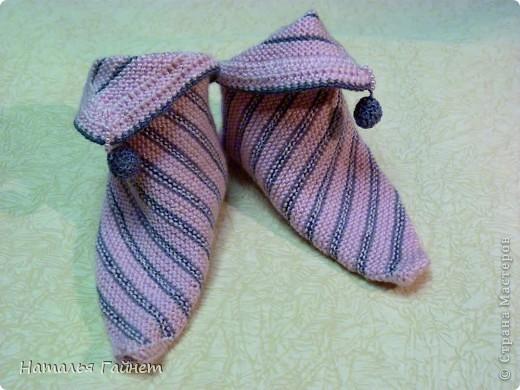 Тапки-носочки из квадрата | Страна Мастеров