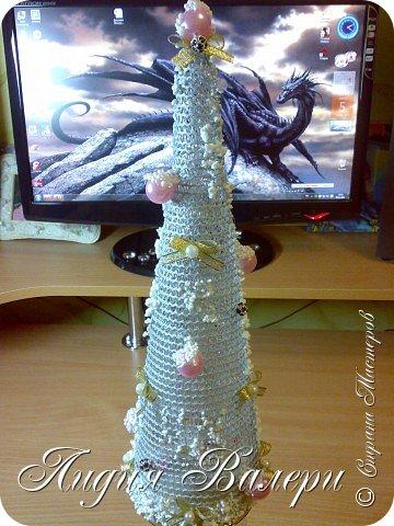Так как гласит календарь Новый 2012 год - год черного водяного дракона. Вот у меня и появилась идея сделать елочку, но не простую, а  приносящую удачу, счастье, богатство.... в Новом 2012 году. фото 2