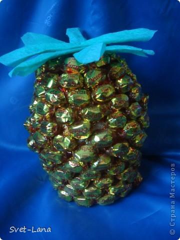 """Конфетный ананас-1 """" Поиск мастер классов, поделок своими руками и рукоделия на SearchMasterclass.Net"""