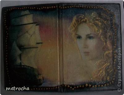 Декор предметов День рождения Декупаж Обложка на паспорт Клей Краска Салфетки