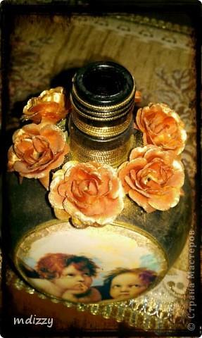Вот так бутылочка из под ликера Mozart  превращается в винтажную вазочку фото 4