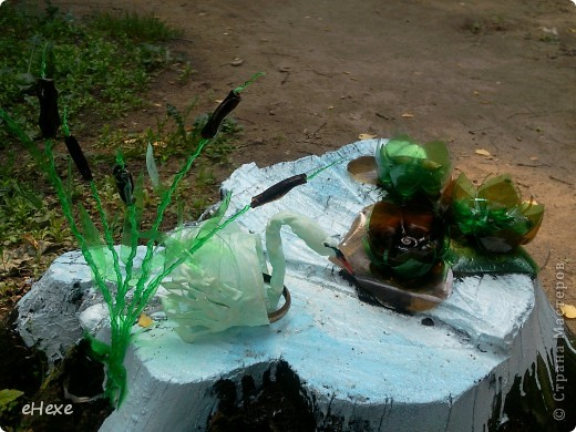 Как сделать камыш из пластиковых бутылок