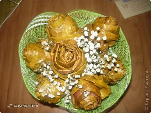 Очень нравятся розы и кленовые листья. Увидела МК Татьяны Просняковой http://stranamasterov.ru/node/2168  и не удержалась. фото 2