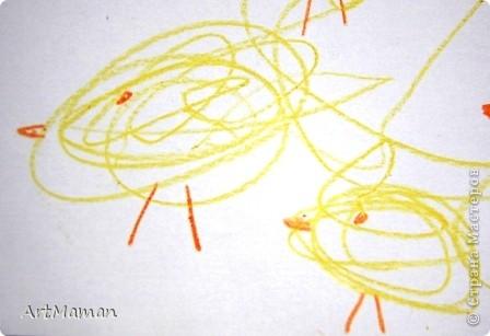Рисовала все доча (2,2 г.), я только подсказывала и помогала кисточку в краску макать. Но это из последнего...  фото 2