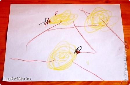 Рисовала все доча (2,2 г.), я только подсказывала и помогала кисточку в краску макать. Но это из последнего...  фото 3