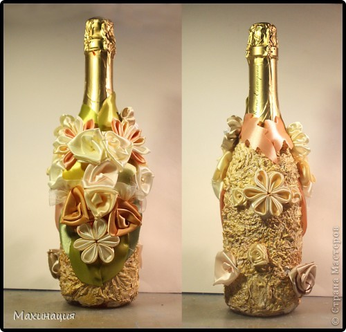 Оформить бутылку для подарка