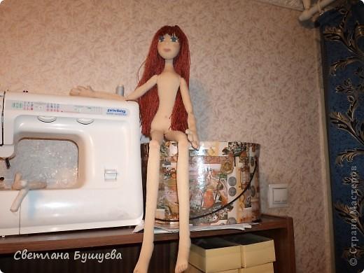 Кукла невеста. Родилась как украшение в свадебный салон. Первая кукла с использованием волос женского парика фото 10