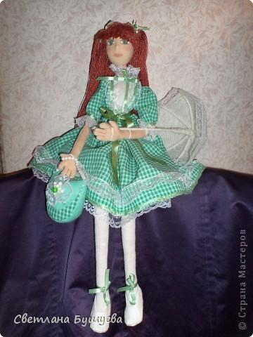 Кукла невеста. Родилась как украшение в свадебный салон. Первая кукла с использованием волос женского парика фото 8