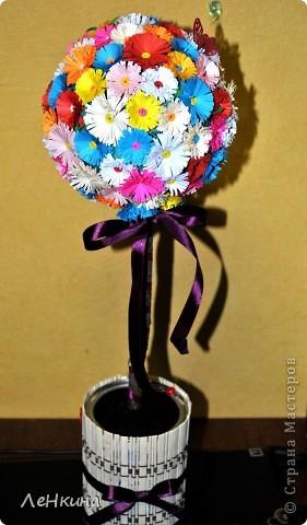 Подглядела я цветочки https://stranamasterov.ru/node/46090?c=favorite и шарики https://stranamasterov.ru/node/90083 и захотелось мне вырастить своё цветочное дерево! фото 1