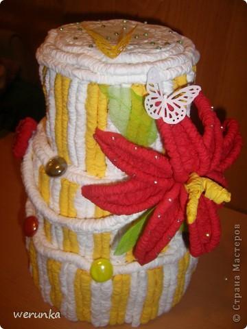 Торт из салфеток. фото 3