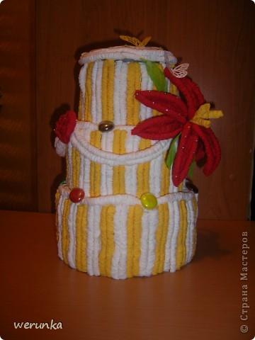 Торт из салфеток. фото 2