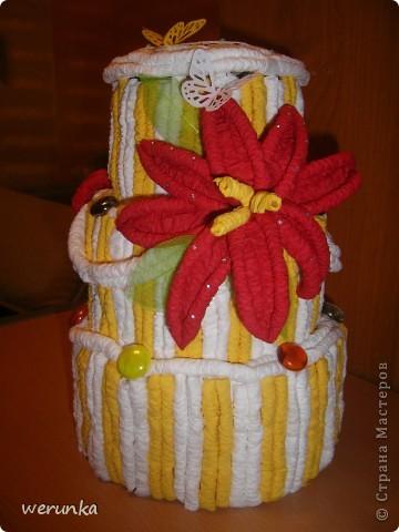 Торт из салфеток. фото 1