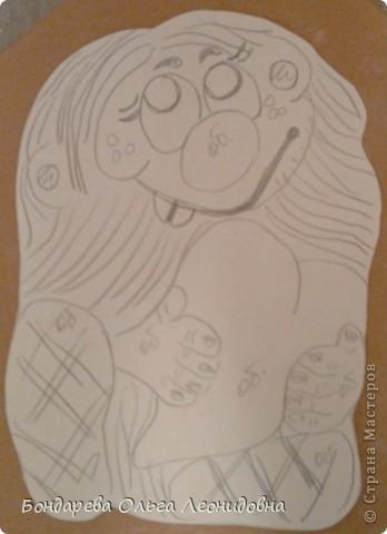 Поделка изделие День рождения Лепка Домовёнок с шаблоном Тесто соленое фото 2