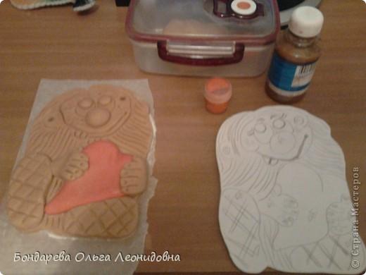 Поделка изделие День рождения Лепка Домовёнок с шаблоном Тесто соленое фото 4