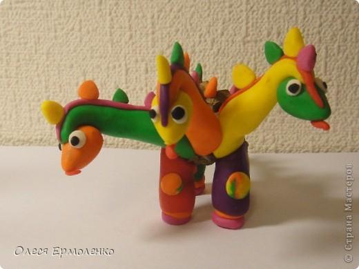 Всем приветульки! Скоро Новый Год ! И мы лепили дракона, посмотрите деткины шедевры 8-9 лет. фото 7