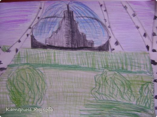 Нарисовала когда ездили на омь. фото 8