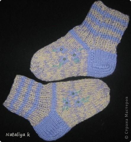 Такие носочки связала для одной  юной принцесски 2,5 лет. фото 4