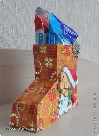 Добрый день жители Страны Мастеров! Представляю Вашему вниманию маленькую упаковку для новогоднего подарочка своим друзьям, одноклассникам, любимым ученикам или коллегам по работе. фото 3