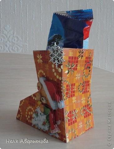 Добрый день жители Страны Мастеров! Представляю Вашему вниманию маленькую упаковку для новогоднего подарочка своим друзьям, одноклассникам, любимым ученикам или коллегам по работе. фото 4
